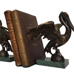 Книжные упоры Пеликаны (бронза)