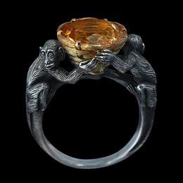 Кольцо с обезьянами «Воришки»