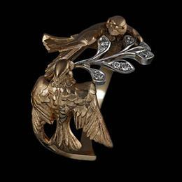 Кольцо «Птички-малиновки»
