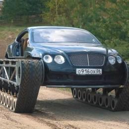 Танк Bentley Continental GT Ultratank развивает скорость в 130 км/ч