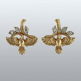 Серьги с бриллиантами «Птички»