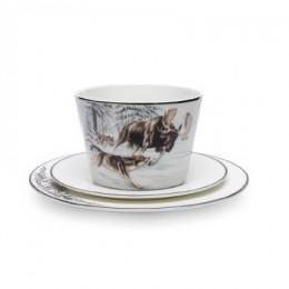 Чайный набор «Охота волков на лося»