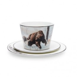 Чайный набор «Медведь и лайки»