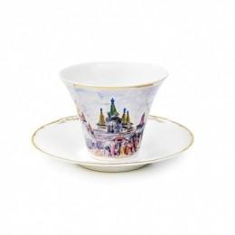 Чайная пара по картине А.Архипова «Площадь старого города»