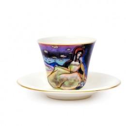 Чайная пара по мотивам багатели В.Кандинского «Дама в золотом платье»
