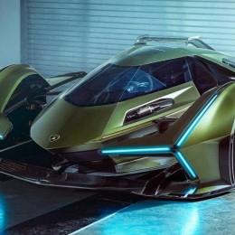 Концепт Lamborghini V12 Vision Gran Turismo похож на бэтмобиль