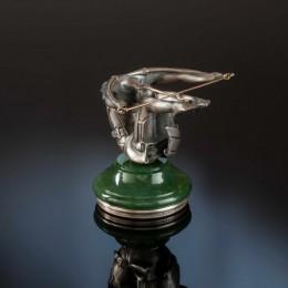 Печать Стрелец (серебро, нефрит)