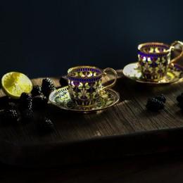 Чашка с блюдцем Мифы нуменора  (серебро, витражная эмаль)