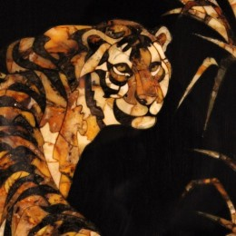 Нарды Крадущийся тигр (орех, янтарь)