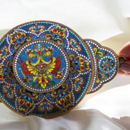 Сухарница Двуглавый орёл (витражная эмаль)