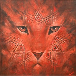 Red Leopard (100x100 см)