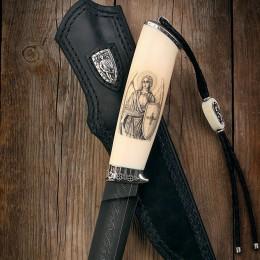 Нож Архангел Михаил (дамаск, клык моржа)