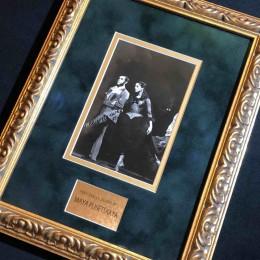 Автограф Майя Плисецкая с балеруном (на ч/б фото)
