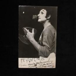 Автограф Марсель Марсо (фото мим)