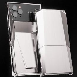Титановый iPhone 11 Pro в стиле Tesla Cybertruck от компании Caviar