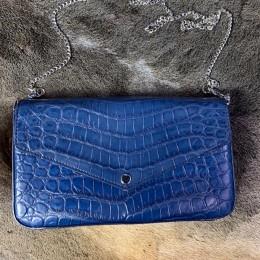 Синий клатч (крокодил)
