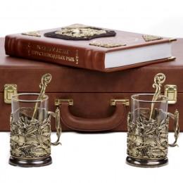 Набор книга Жизнь и ловля пресноводных 2 подстаканника