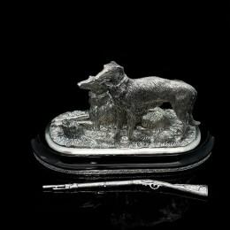 Борзые на охоте (серебро)
