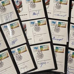 Открытки с автографами олимпийских чемпионов из СССР