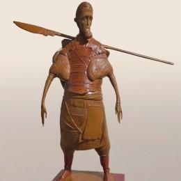 Скульптура Русский воин (бронза, 49 см)