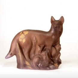 Семейство лис (керамика, h=48 см)