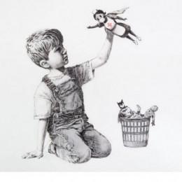 В английской больнице появилась картина Banksy отдающая дань уважения работникам медицины