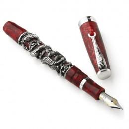 Ручка перьевая Montegrappa Oriental Zodiac Snake Sterling Silver Barrel Overlay Limited Edition (Перо M)