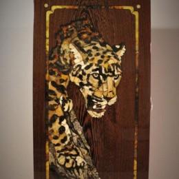 Нарды Леопард (орех, янтарь)