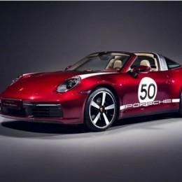 Porsche представил автомобиль 911 Targa 4S Heritage Design Edition, ограниченный количеством в 992 штук