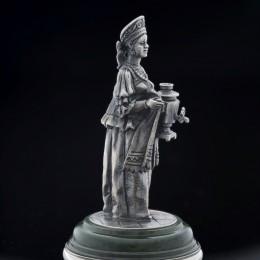 Фигурка Баба с самоваром (серебро, h=7 см)