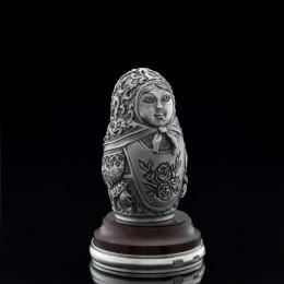 Фигурка Матрёшка (серебро, h=5 см)