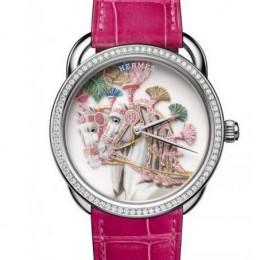Часы Hermès Harnais Français Remix с чудесным циферблатом, раскрашенным вручную