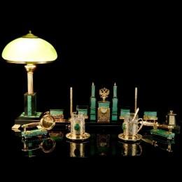 Письменный набор с подстаканниками (златоуст)