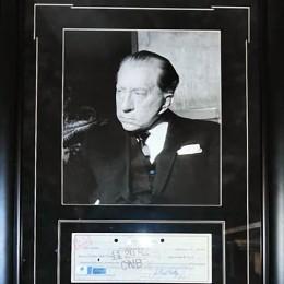 Джей. Пол Гетти (фото и автограф на чеке)