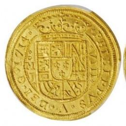 Мексиканская золота монета, которой 300 лет, может уйти с молотка за 400 000 $