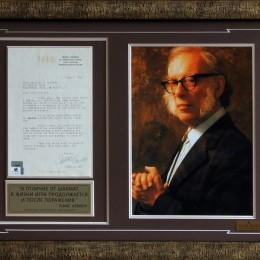 Айзек Азимов (автограф в письме)