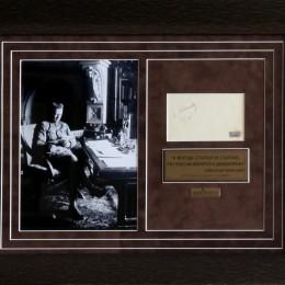 Александр Керенский (автограф на странице из альбома)