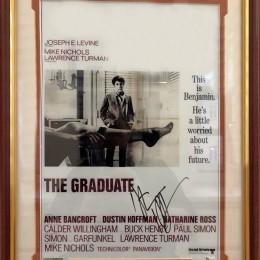 Дастин Хоффман (автограф в рамке под стеклом)