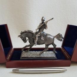Скульптура Казак с ружьем (бронза, 17 см)