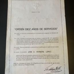 Автограф Фидель Кастро (на документе)