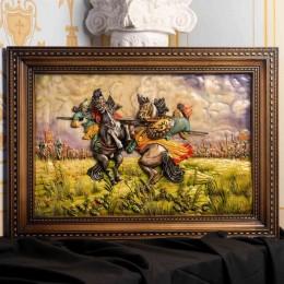 Большое настенное панно Бой Пересвета с Челубеем