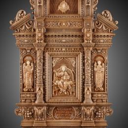 Икона Спас в Силах (дерево, мрамор)