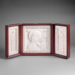 Икона триптих (бивень мамонта, орех)