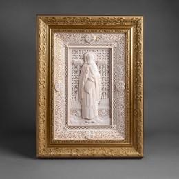 Икона Сергий Радонежский (бивень мамонта)