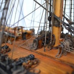 Модель парусного линейного корабля 1766 года