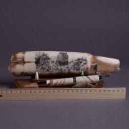 Шариковая ручка на подставке Волки