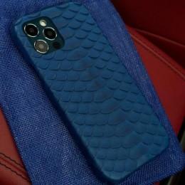 Чехол на iPhone 12 синий питон