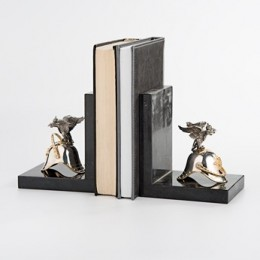 Книжные упоры «Кирасиры» (серебро, мрамор)