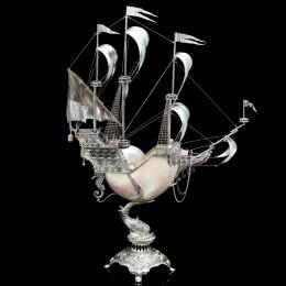 Корабль Арго (наутилус, серебро, h=73 см)