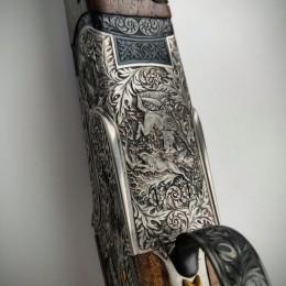 Эксклюзивное охотничье ружьё с инкрустацией